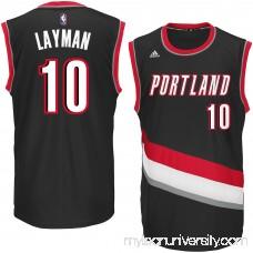 Men's Portland Trail Blazers Jake Layman adidas Black Replica Road Jersey - 2617249