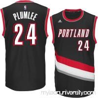 Men's Portland Trail Blazers Mason Plumlee adidas Black Replica Jersey -   2269637