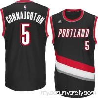 Men's Portland Trail Blazers Pat Connaughton adidas Black Replica Jersey -   2269632