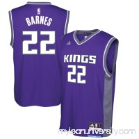 Men's Sacramento Kings Matt Barnes adidas Purple Replica Road Jersey -   2617248