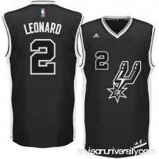 Men's San Antonio Spurs Kawhi Leonard adidas Black Alternate Replica Jersey - 2422797