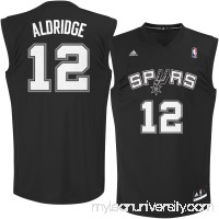 Men's San Antonio Spurs LaMarcus Aldridge adidas Black Chase Fashion Replica Basketball Jersey -   2257959