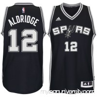 Men's San Antonio Spurs LaMarcus Aldridge adidas Black Road Swingman climacool Jersey -   2247283