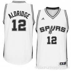 Men's San Antonio Spurs LaMarcus Aldridge adidas White Home Swingman climacool Jersey - 2412339