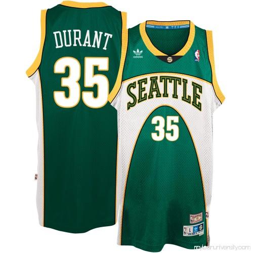 087f9c344a1b Men s Seattle SuperSonics Kevin Durant adidas Green Throwback Road Hardwood  Classics Swingman climacool Jersey - 2539035