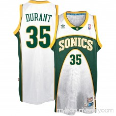 Men's Seattle SuperSonics Kevin Durant adidas White Throwback Home Hardwood Classics Swingman climacool Jersey -   2539036