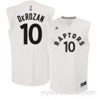 Men's Toronto Raptors DeMar DeRozan adidas White Fashion Replica Jersey - 2620860