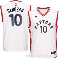 Men's Toronto Raptors DeMar DeRozan adidas White Home Replica Jersey -   2620401