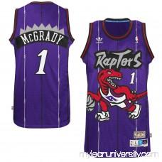 Men's Toronto Raptors Tracy McGrady adidas Purple Hardwood Classics Swingman Jersey -   1774174