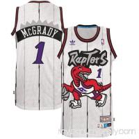 Men's Toronto Raptors Tracy McGrady adidas White Home Hardwood Classics Swingman climacool Jersey -   2661015