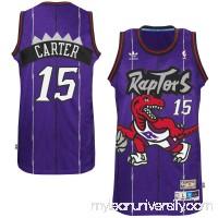 Men's Toronto Raptors Vince Carter adidas Purple Hardwood Classics Swingman Jersey -   1774173