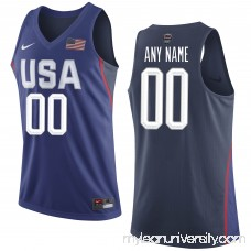 Men's USA Basketball Nike Royal Rio Elite Replica Custom Jersey -   2521230