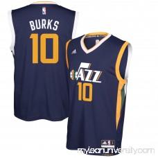 Men's Utah Jazz Alec Burks adidas Navy Team Color Replica Jersey - 2666171