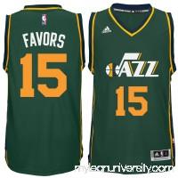 Men's Utah Jazz Derrick Favors adidas Green Player Swingman Alternate Jersey -   1768780