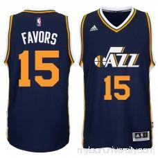 Men's Utah Jazz Derrick Favors adidas Navy Player Swingman Road Jersey - 1768782