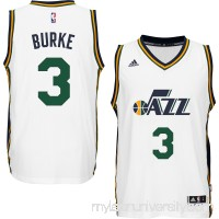 Men's Utah Jazz Trey Burke adidas White Player Swingman Home Jersey -   1768785