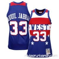 Mens All Star West Kareem Abdul-Jabbar Mitchell & Ness Navy Blue 1980 Authentic Basketball Jersey -   1834310