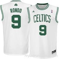 Mens Boston Celtics Rajon Rondo adidas White Replica Home Jersey -   491840