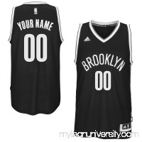 Mens Brooklyn Nets adidas Black Custom Swingman Road Jersey -   1831028