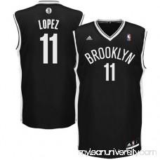 Mens Brooklyn Nets Brook Lopez adidas Black Replica Road Jersey - 879327