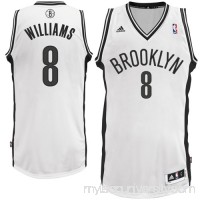 Mens Brooklyn Nets Deron Williams adidas White Swingman Home Jersey -   883599