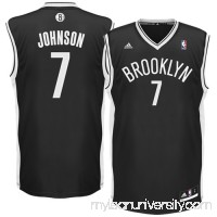Mens Brooklyn Nets Joe Johnson adidas Black Replica Road Jersey -   1049655