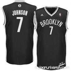 Mens Brooklyn Nets Joe Johnson adidas Black Replica Road Jersey - 1049655