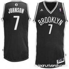 Mens Brooklyn Nets Joe Johnson adidas Black Swingman Road Jersey - 1061142