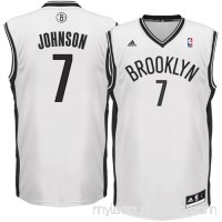 Mens Brooklyn Nets Joe Johnson adidas White Replica Home Jersey -   1049654