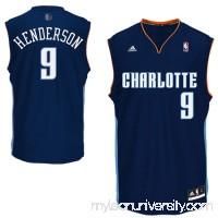 Mens Charlotte Bobcats Gerald Henderson adidas Navy Blue Replica Road Jersey -   1533285