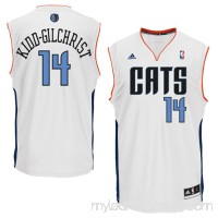 Mens Charlotte Bobcats Michael Kidd-Gilchrist adidas White Replica Home Jersey -   1071824