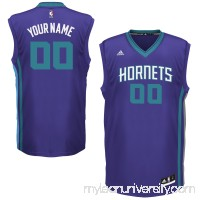 Mens Charlotte Hornets adidas Purple Team Color Custom Replica Basketball Jersey -   1935271