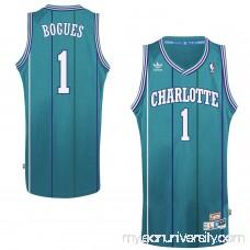 Mens Charlotte Hornets Muggsy Bogues adidas Teal Hardwood Classics Swingman Jersey -   1780969