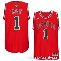 Mens Chicago Bulls Derrick Rose adidas Red 2014-15 Noches Enebea Swingman Road Jersey -   1849689
