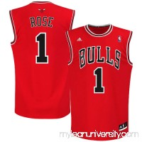 Mens Chicago Bulls Derrick Rose adidas Red Replica Road Jersey -   491820