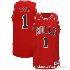 Mens Chicago Bulls Derrick Rose adidas Red Swingman Road Jersey - 491648