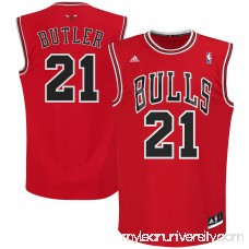 Mens Chicago Bulls Jimmy Butler adidas Red Replica Road Jersey -   1533386