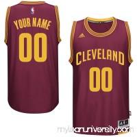 Mens Cleveland Cavaliers adidas Burgundy Custom Swingman Road Jersey -   1785863