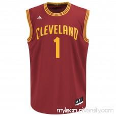 Mens Cleveland Cavaliers James Jones adidas Wine Replica Road Jersey - 2080987