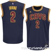 Mens Cleveland Cavaliers Kyrie Irving adidas Navy Blue Alternate Replica Jersey -   1993197