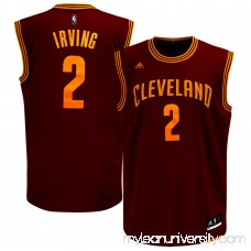 Mens Cleveland Cavaliers Kyrie Irving adidas Wine Replica Road Jersey -   777179
