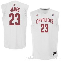 Mens Cleveland Cavaliers LeBron James adidas White Fashion Replica Jersey -   1918834
