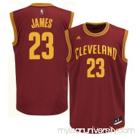 Mens Cleveland Cavaliers LeBron James adidas Wine Replica Road Jersey -   1829949