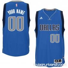 Mens Dallas Mavericks adidas Blue Custom Swingman Road Jersey -   1831027