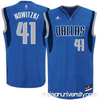 3238b6b0f038 Mens Dallas Mavericks Dirk Nowitzki adidas Royal Blue Replica Road Jersey -  491895