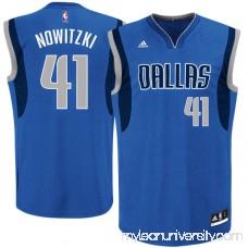 Mens Dallas Mavericks Dirk Nowitzki adidas Royal Blue Replica Road Jersey -   491895