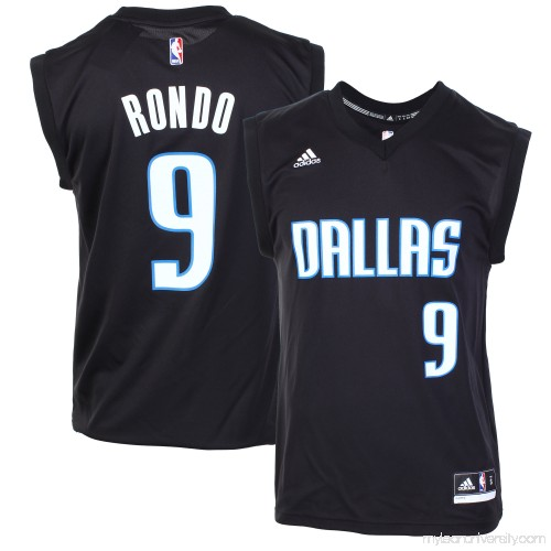 9b69cccd9e05 Mens Dallas Mavericks Rajon Rondo adidas Black Fashion Replica Jersey -  2008629