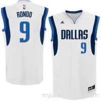 Mens Dallas Mavericks Rajon Rondo adidas White Home Replica Jersey -   2006280