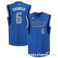 Mens Dallas Mavericks Tyson Chandler adidas Royal Blue Road Replica Jersey -   1949254