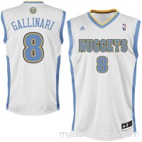 Mens Denver Nuggets Danilo Gallinari adidas White Replica Home Jersey -   1076140